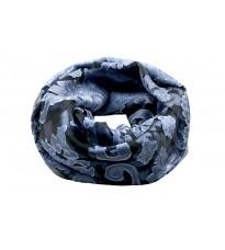 Синий шелковый ажурный шарф Rinascimento 11587