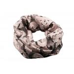 Розовый шелковый ажурный шарф Rinascimento 11586