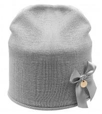 Серая шапка с бантом Rinascimento 11272