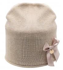 Розовая шапка с бантом Rinascimento 11272