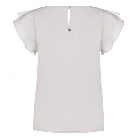 Белая блуза с бусинами RINASCIMENTO 85353