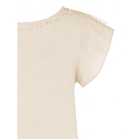 Бежевая блуза с бусинами RINASCIMENTO 85353