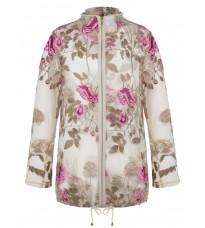 Стильное прозрачное пальто с вышивкой RINASCIMENTO 85547