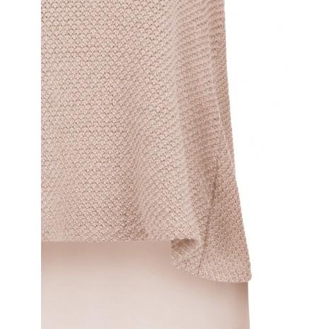 Розовый джемпер удлиненный сзади RINASCIMENTO 86023