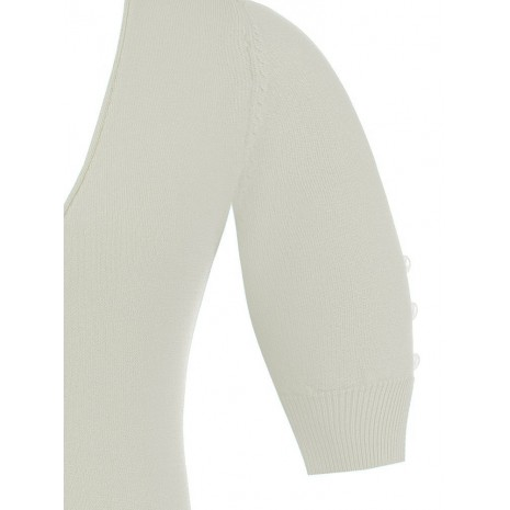 Белый джемпер с глубоким вырезом RINASCIMENTO 8633