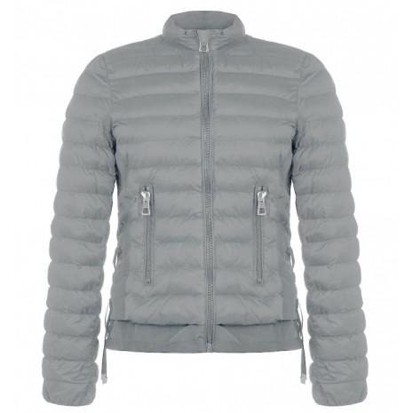 Серая стеганная куртка с карманами на молнии RINASCIMENTO 84994