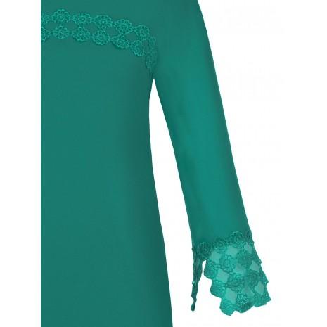Зеленое платье с кружевом RINASCIMENTO 86064