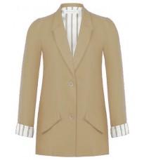 Бежевый прямой пиджак RINASCIMENTO 86216