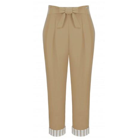 Бежевые брюки с поясом RINASCIMENTO 86217