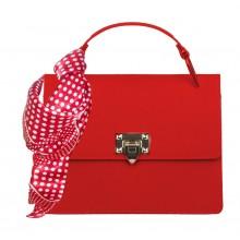Кожаная красная сумка RINASCIMENTO 11110