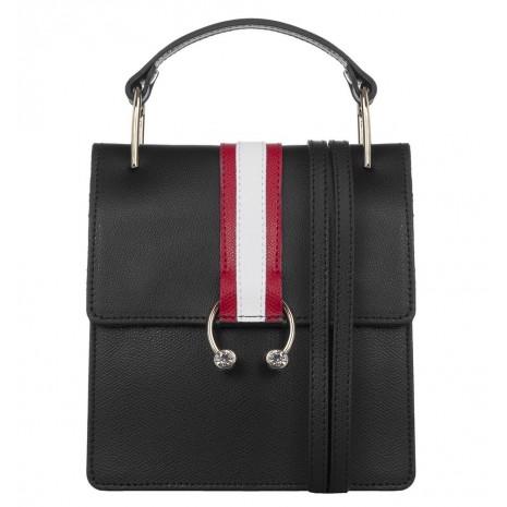 Кожаная черная сумка RINASCIMENTO 11113