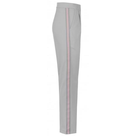 Серые брюки с контрастными вставками RINASCIMENTO 15536