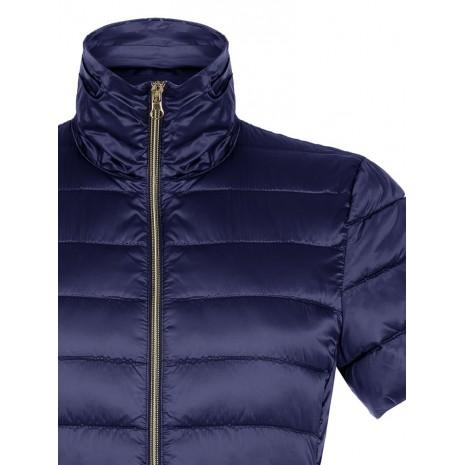Синяя стеганная куртка с короткими рукавами RINASCIMENTO 83947