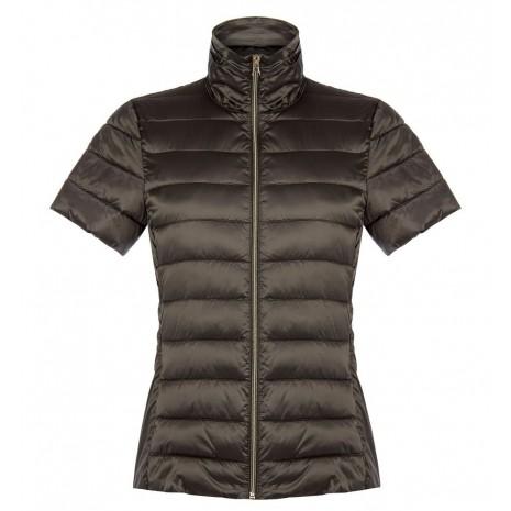 Коричневая стеганная куртка с короткими рукавами RINASCIMENTO 83947