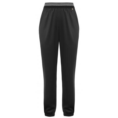 Черные брюки с контрастными вставками RINASCIMENTO 85151