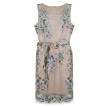 Розовое платье с вышивкой RINASCIMENTO 15568