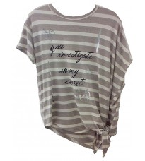 Бежевая футболка с принтом RINASCIMENTO 85801