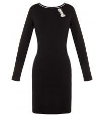 Черное платье с надписями RINASCIMENTO 15616