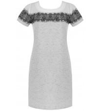Серое платье с кружевом RINASCIMENTO 85083