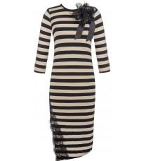 Платье в полоску с декором RINASCIMENTO 85186