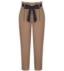 Бежевые брюки с поясом RINASCIMENTO 87691