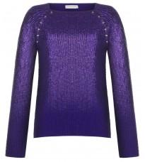 Фиолетовый джемпер с напылением RINASCIMENTO 8771