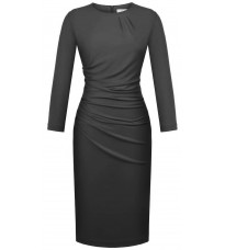 Стильное черное платье с длинными рукавами RINASCIMENTO 87994