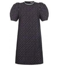 Прямое черное платье с контрастными вставками RINASCIMENTO 88183