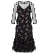 Стильное платье с розовым принтом RINASCIMENTO 88223