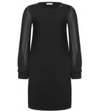Черное платье с длинными рукавами RINASCIMENTO 88342