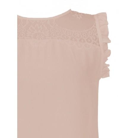 Розовый топ с кружевом RINASCIMENTO 15552