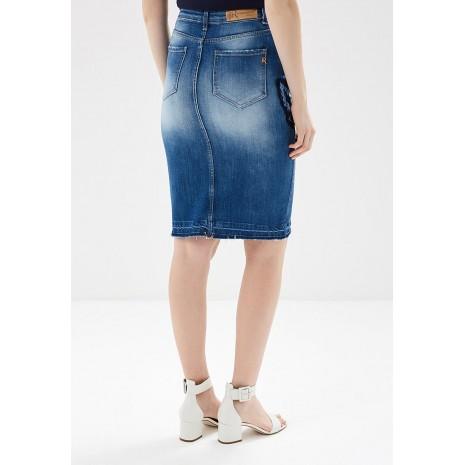 Джинсовая юбка с декором RINASCIMENTO 84832