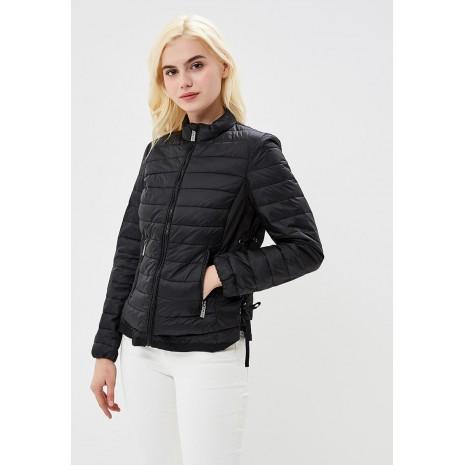 Черная стеганная куртка с карманами на молнии RINASCIMENTO 84994