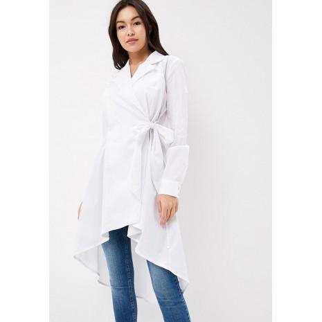 Белая блуза удлиненная сзади RINASCIMENTO 85113