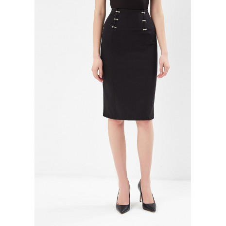 Черная юбка с декором RINASCIMENTO 85159