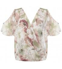 Розовая блуза с принтом RINASCIMENTO 85192