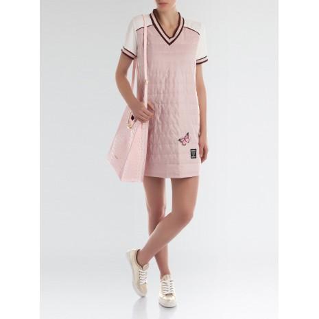 Розовое стеганное платье с аппликацией RINASCIMENTO 85317