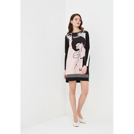 Розовое платье с принтом RINASCIMENTO 85462
