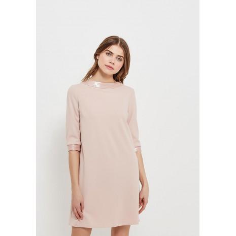 Розовое прямое платье с декором сзади RINASCIMENTO 85505