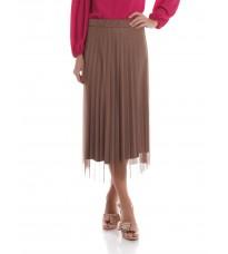 Коричневая плиссированная юбка RINASCIMENTO 85545