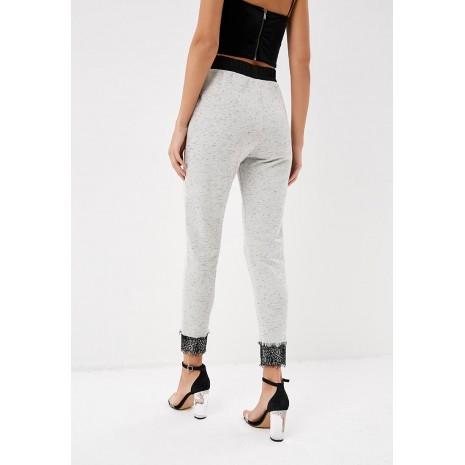 Серые брюки с кружевом RINASCIMENTO 85594