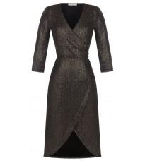 Черное золотистое платье с запахом RINASCIMENTO 16225