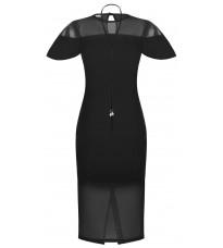 Черное стильное платье с декором RINASCIMENTO 89747