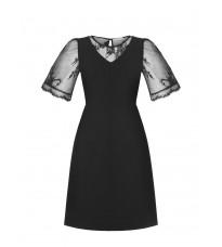 Черное платье с кружевом RINASCIMENTO 89808