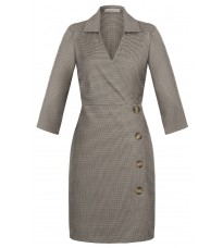 Бежевое платье с пуговицами RINASCIMENTO 89820
