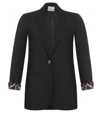 Черный прямой пиджак RINASCIMENTO 90121