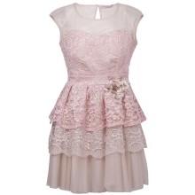 Розовое кружевное платье RINASCIMENTO 86354