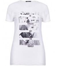 Белая футболка с принтом RINASCIMENTO 86539
