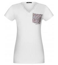 Белая футболка с декором RINASCIMENTO 90910