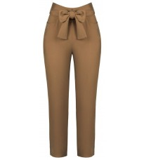 Коричневые брюки с бантом RINASCIMENTO 91027